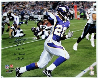 "Adrian Peterson Autographed Minnesota Vikings ""Record Breaker"" 16x20 Photo"