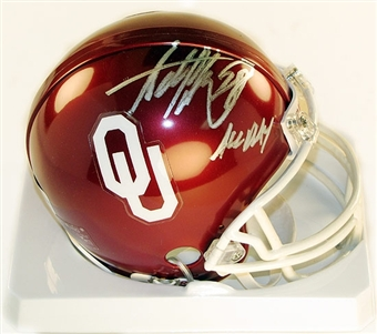 "Adrian Peterson Autographed Oklahoma Sooners Football Mini-Helmet ""All Day"""