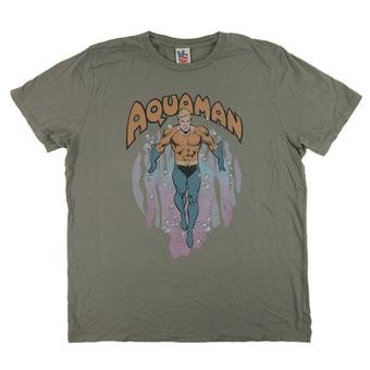 Aquaman Junk Food Clay Green Classic Tee (Adult M)