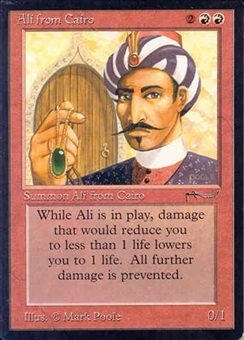 Magic the Gathering Arabian Nights Single Ali from Cairo - NEAR MINT (NM)