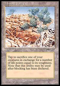 Magic the Gathering Arabian Nights Single Diamond Valley - SLIGHT PLAY (SP)