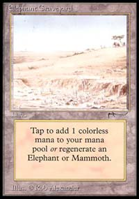 Magic the Gathering Arabian Nights Single Elephant Graveyard - SLIGHT PLAY (SP)