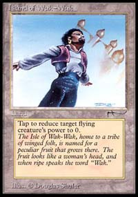 Magic the Gathering Arabian Nights Single Island of Wak-Wak - SLIGHT PLAY (SP)
