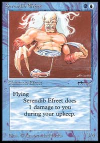 Magic the Gathering Arabian Nights Single Serendib Efreet - NEAR MINT (NM)