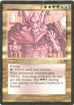 Magic the Gathering Legends Single Arcades Sabboth SLIGHT PLAY (SP)