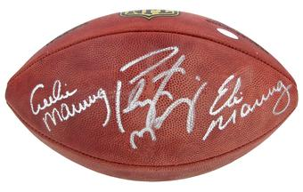 Peyton Manning / Eli Manning / Archie Manning Autographed Authentic Duke Game Ball (Steiner)
