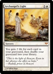 Magic the Gathering Dark Ascension Single Archangel's Light UNPLAYED (NM/MT)