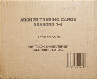 Archer Seasons 1-4 Trading Cards 12-Box Case (Cryptozoic 2013)