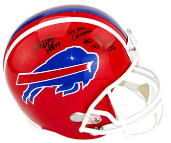 Andre Reed Autographed Buffalo Bills Full Size Replica Football Helmet w/inscripts