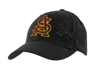 Arizona State Sun Devils Top Of The World Hidden Black Adjustable Hat (Adult One Size)