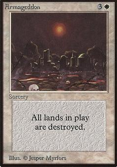 Magic the Gathering Beta Single Armageddon - SLIGHT PLAY (SP)