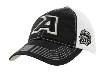 Army Black Knights Top Of The World Calamity Black & White Adjustable Hat (Adult One Size)