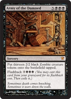Magic the Gathering Innistrad Single Army of the Damned Foil