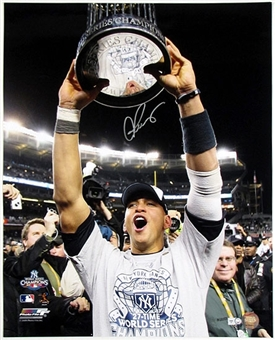 Alex Rodriguez Autographed New York Yankees Celebration 16x20 Photo (MLB COA)