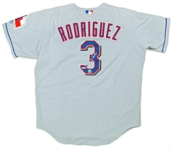 Alex Rodriguez Autographed Texas Rangers Authentic Rawlings Road Jersey (UDA)
