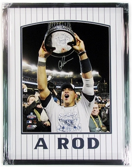 Alex Rodriguez Autographed & Framed World Series Celebration 16x20 Photo
