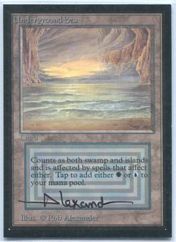 Magic the Gathering Beta Artist Proof Underground Sea - SIGNED BY ROB ALEXANDER