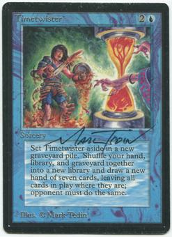 Magic the Gathering Beta Single Timetwister ARTIST SIGNED - MODERATE PLAY (MP)