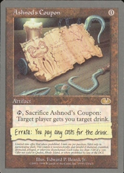 Magic the Gathering Unglued Single Ashnod's Coupon - NEAR MINT (NM)