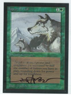 Magic the Gathering Beta Artist Proof Aspect of Wolf - SIGNED BY JEFF A. MENGES