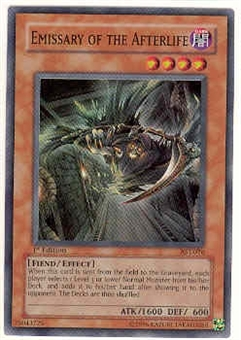 Yu-Gi-Oh Ancient Sanctuary Single 1st Edition Emissary of the Afterlife Super Rare