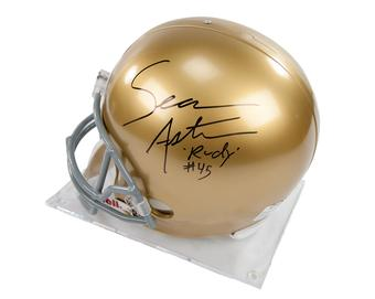 Sean Astin Autographed Rudy Notre Dame Full Size Helmet