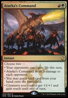 Magic the Gathering Dragons of Tarkir Single Atarka's Command NEAR MINT (NM)