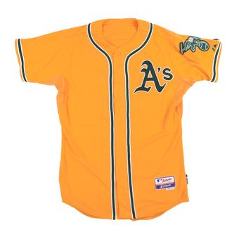 Oakland Athletics Majestic Gold On Field Cool Base Performance Authentic Jersey
