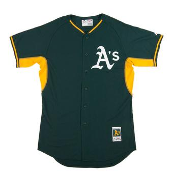Oakland Athletics Majestic Green BP Cool Base Performance Authentic Jersey (Adult 52)