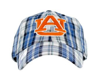 Auburn Tigers Top Of The World Double Header Plaid Adjustable Hat (Adult One Size)