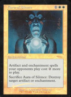 Magic the Gathering Promotional Single Aura of Silence Foil (DCI)