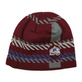 Colorado Avalanche Old Time Hockey Maroon Bolgar Beanie Knit Hat (Adult OSFA)