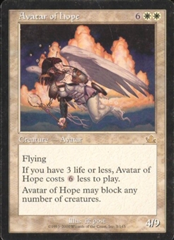 Magic the Gathering Prophecy Single Avatar of Hope HEAVY PLAY (HP)