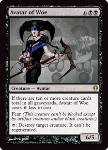 Magic the Gathering Archenemy Single Avatar of Woe - NEAR MINT (NM)