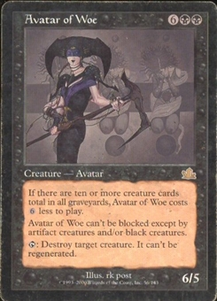 Magic the Gathering Prophecy Single Avatar of Woe MODERATE PLAY (VG/EX)