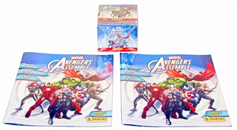 Panini Marvel Avengers Assemble Sticker Box PLUS 2 Albums!
