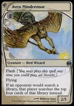 Magic the Gathering Future Sight Single Aven Mindcensor FOIL - MODERATE PLAY (MP)