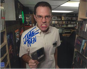 """James Rolfe 8x10 Autographed Angry Video Game Nerd """"AVGN"""" Total Recall Photo"""