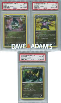 Pokemon Dragon Vault Axew Evolution Set PSA GRADED - Axew, Fraxure, Haxorus PSA 8,8,8.5