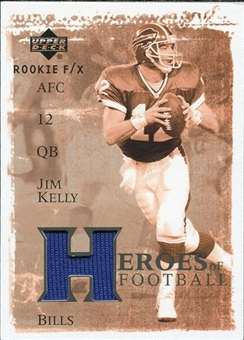 2001 Upper Deck Rookie F/X Heroes of Football Jerseys #HFJK Jim Kelly