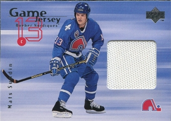 1998/99 Upper Deck Game Jerseys #GJ19 Mats Sundin White