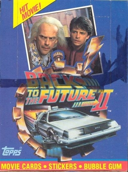 Back to the Future II Wax Box (1989 Topps)