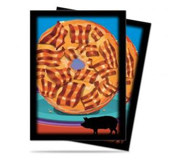 Ultra Pro Foodie Bacon Donut Standard Sized Deck Protectors (Case of 6000 Sleeves)