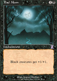 Magic the Gathering Time Spiral Single Bad Moon - NEAR MINT (NM)