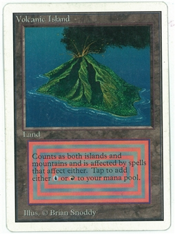 Magic the Gathering Unlimited Single Volcanic Island - SLIGHT PLAY MINUS (SP-)