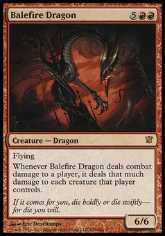 Magic the Gathering Innistrad Single Balefire Dragon - SLIGHT PLAY (SP)