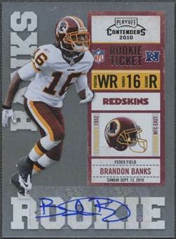 2010 Playoff Contenders #107 Brandon Banks /500 Rookie Autograph