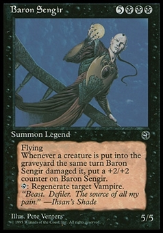 Magic the Gathering Homelands Single Baron Sengir - SLIGHT PLAY (SP)