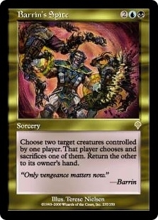 Magic the Gathering Invasion Single Barrin's Spite Foil