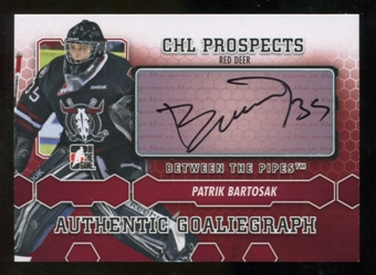 2012/13 In the Game Between The Pipes Autographs #APB Patrik Bartosak Autograph